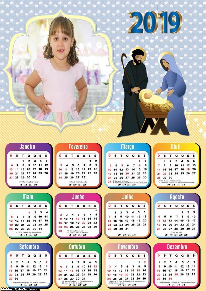 Calendário Menino Jesus 2019