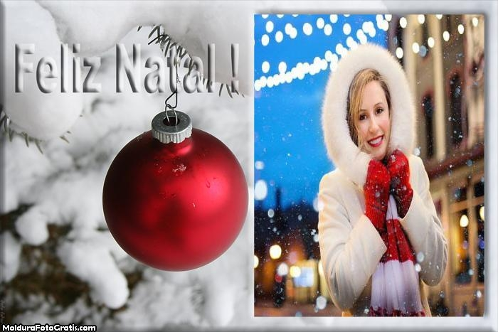 Feliz Natal Bola Vermelha Natal