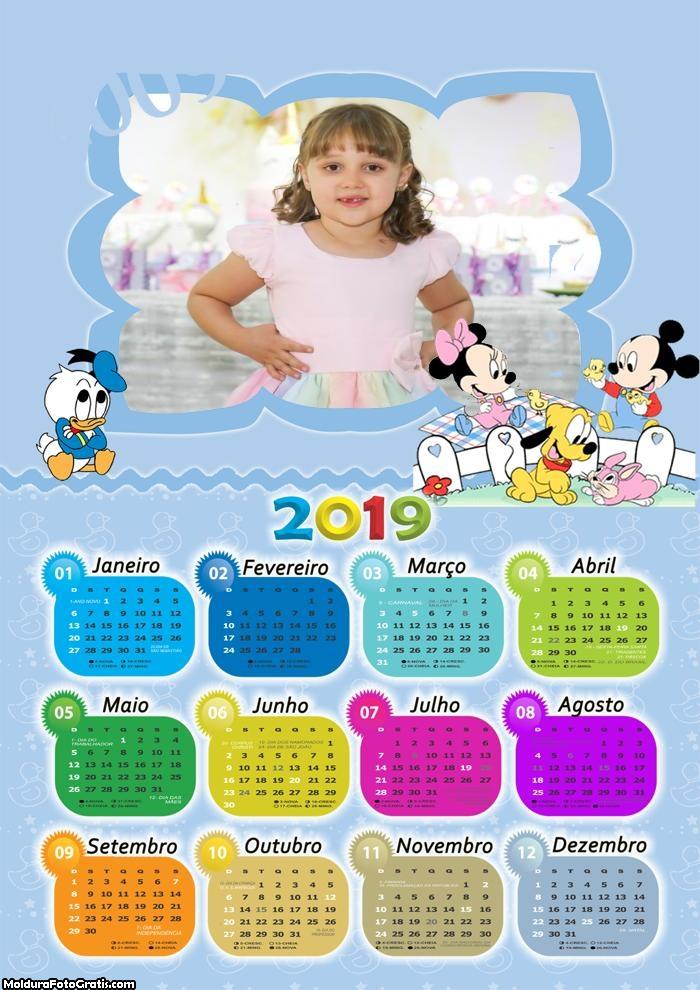 Calendário Disney Baby Mickey Turminha 2019