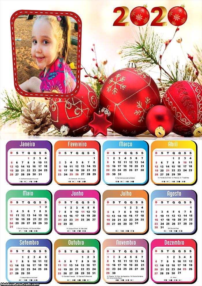 Calendário Natal Enfeitado 2020
