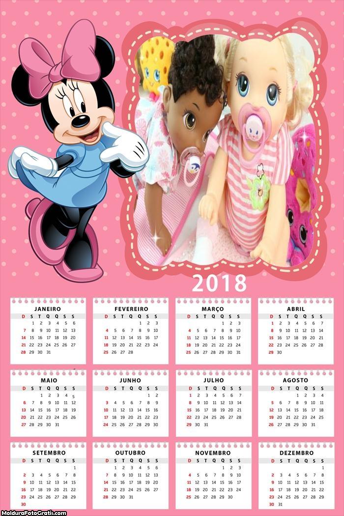 Calendário Minnie 2018