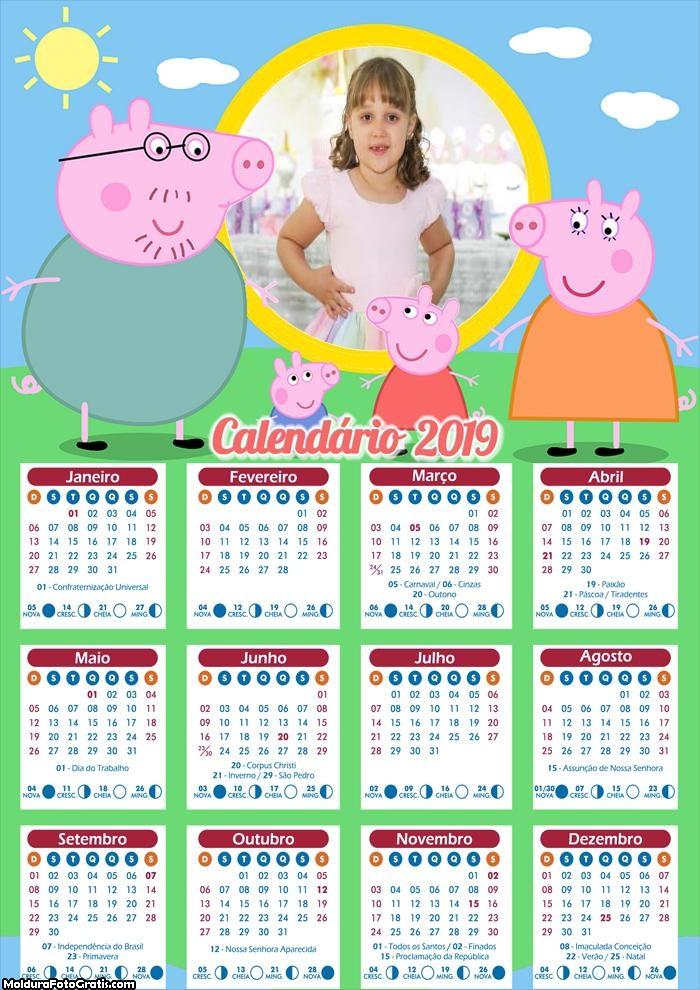 Calendário Peppa Pig Família 2019