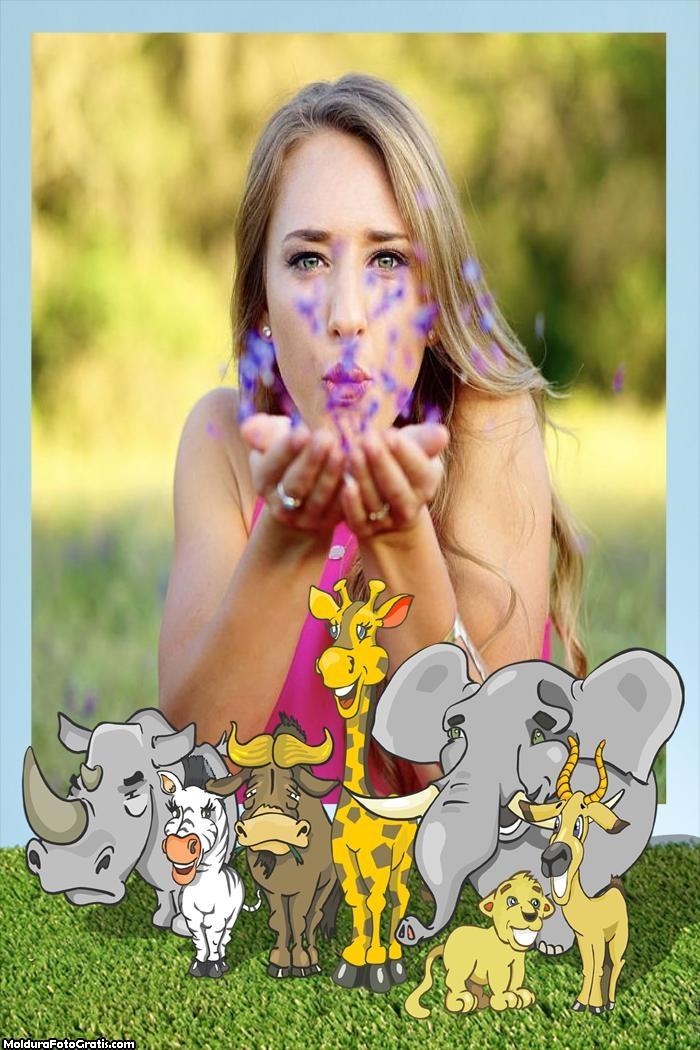 Moldura Animais do Safari