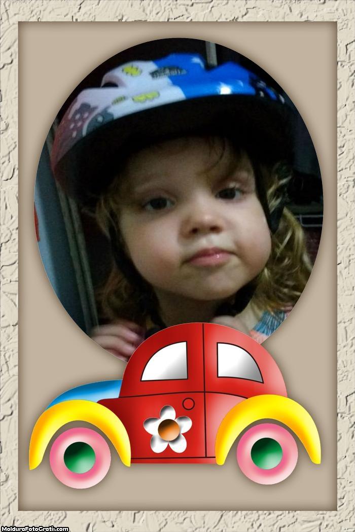 FotoMoldura Fusquinha Colorido Infantil