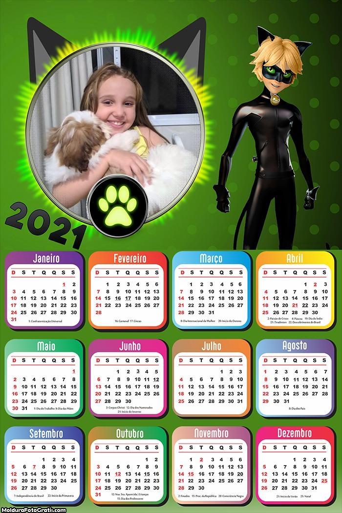 Calendário CatNoir 2021