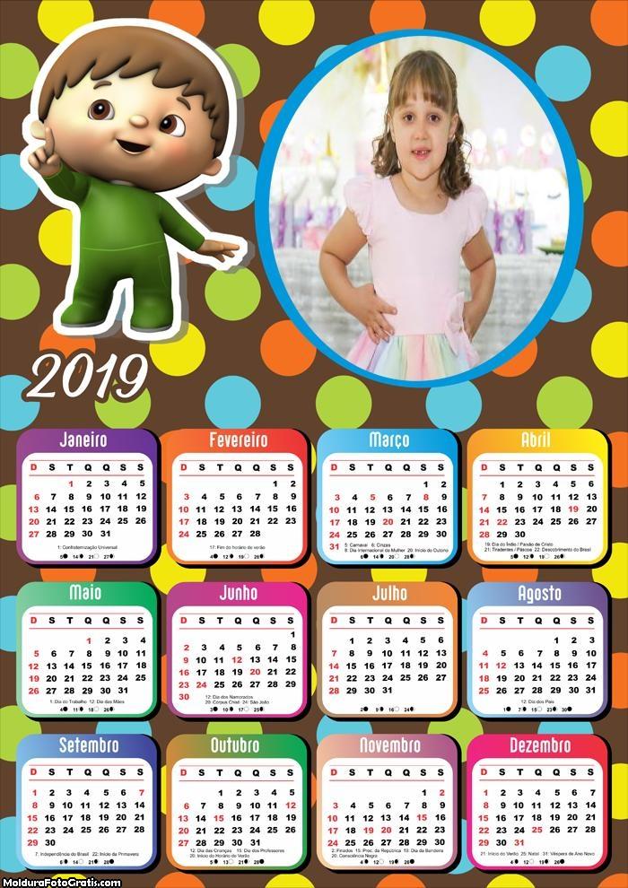 Calendário Os Números de Charlie 2019