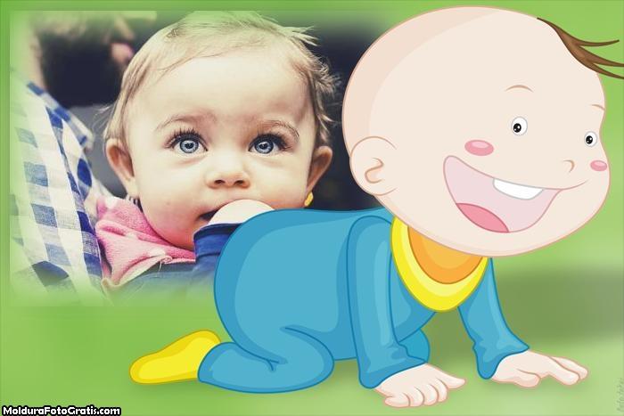 Bebê Engatinhando Moldura