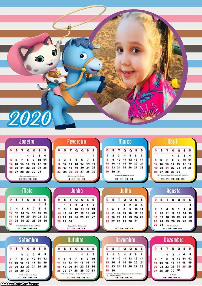 Calendário Infantil Menina 2020