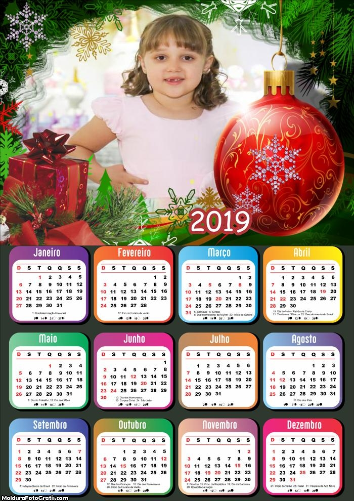 Calendário Dentro da Árvore Natalina 2019