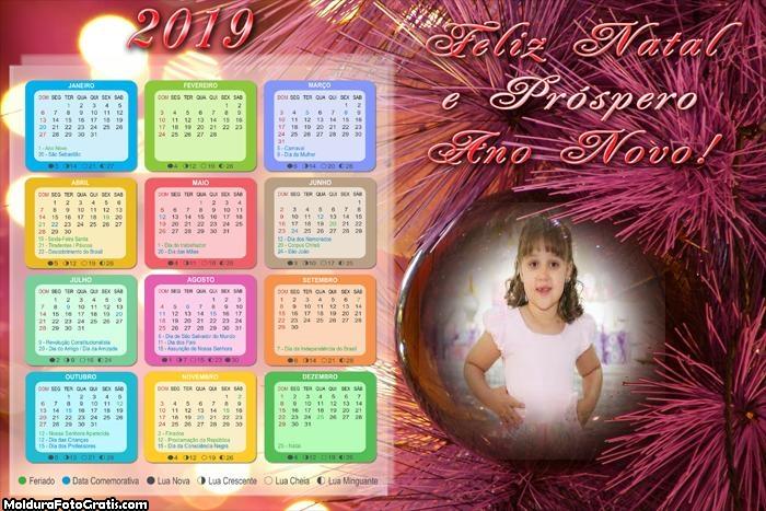 Calendário Próspero Ano Novo 2019