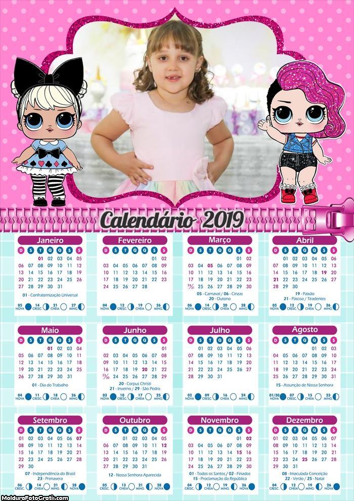 Calendário da LOL Surprise 2019