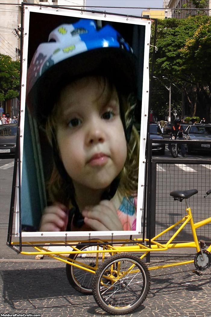 FotoMoldura Placa na Bicicleta