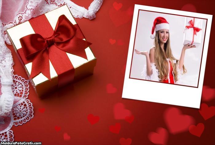 Presente de Amor no Natal Moldura