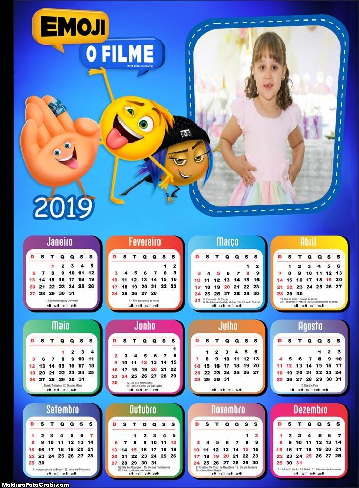 Calendário Emoji 2019