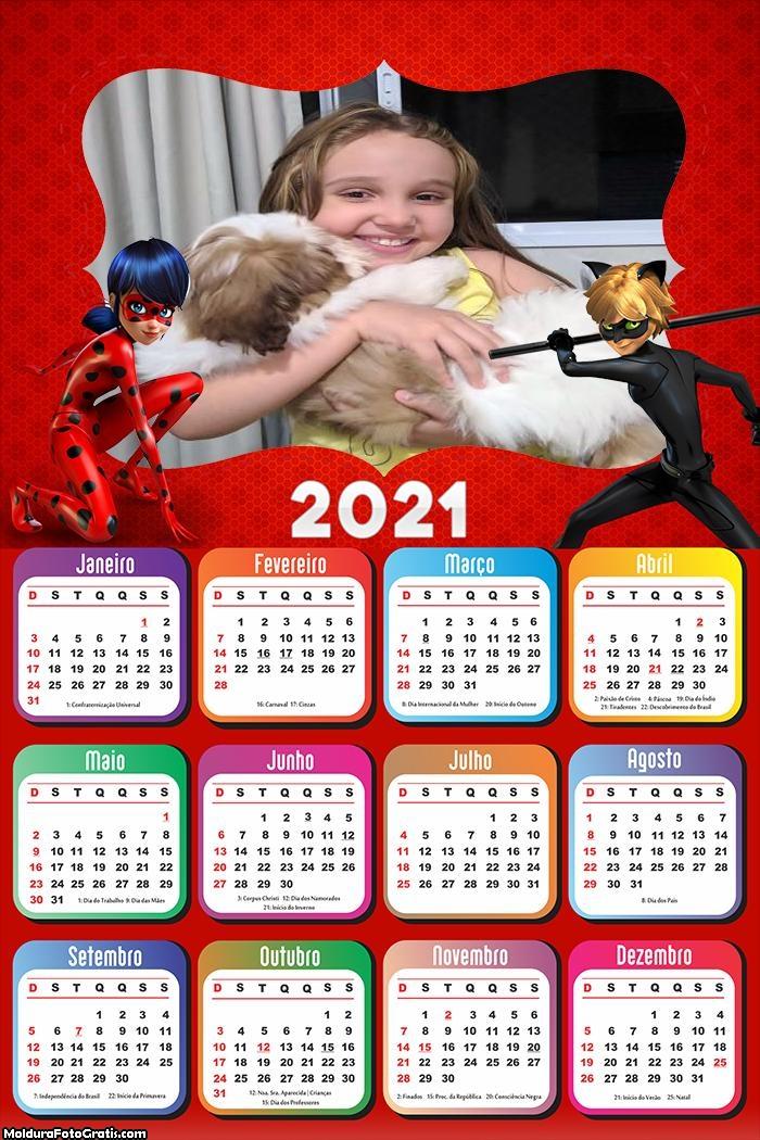 Calendário Catnoir e Ladybug 2021
