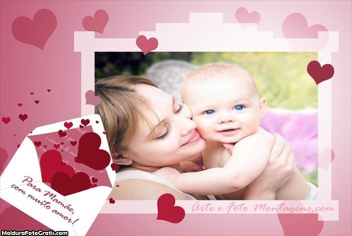 Carta para Mamãe Foto Montagem