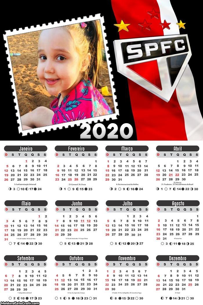 Calendário do São Paulo 2020