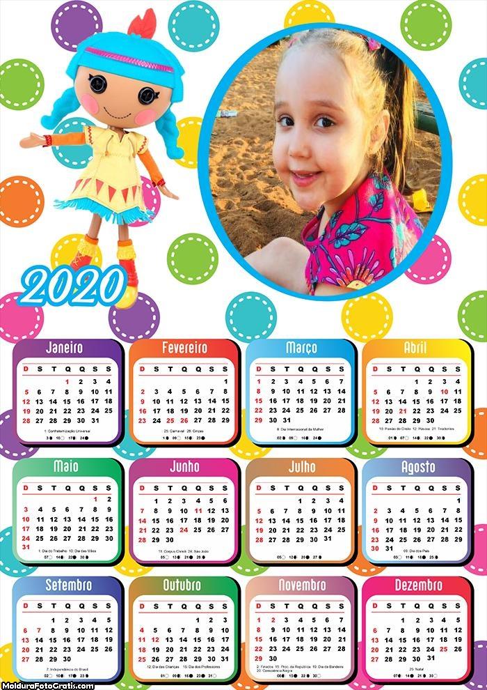 Calendário Boneca de Pano 2020