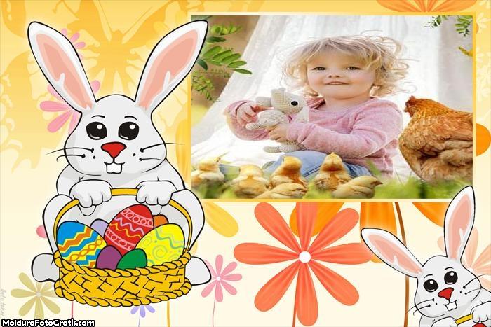 Coelhinho da Páscoa para Crianças Moldura
