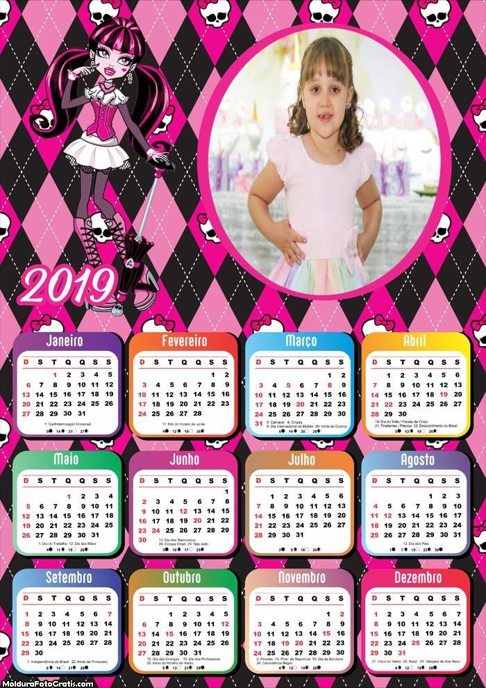 Calendário Monster Girl 2019