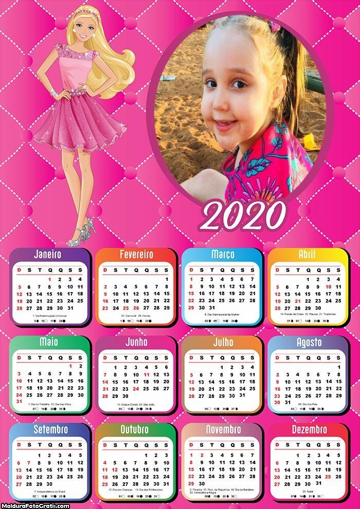 Calendário da Barbie 2020