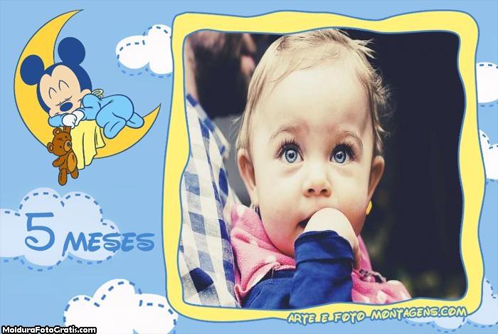 Mickey Baby 5 Meses Moldura
