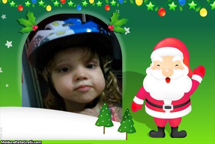 FotoMoldura Papai Noel Natal