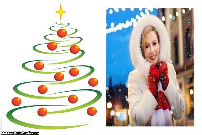 Árvore de Natal Desenho Moldura
