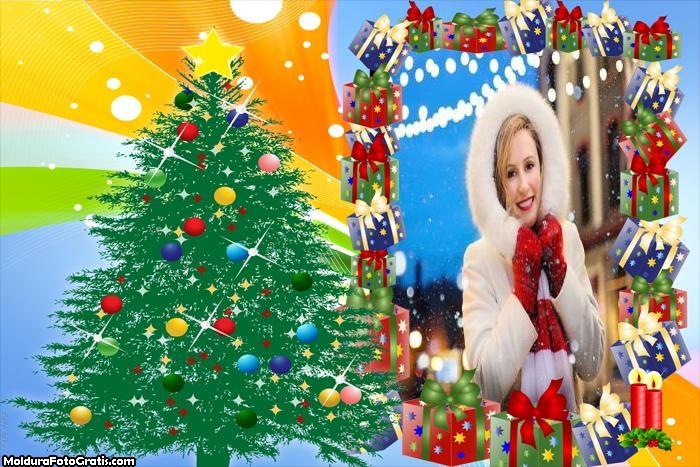 Árvore de Natal Artesanato Moldura
