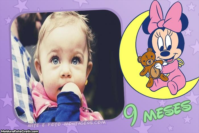 Minnie Baby 9 Meses Moldura