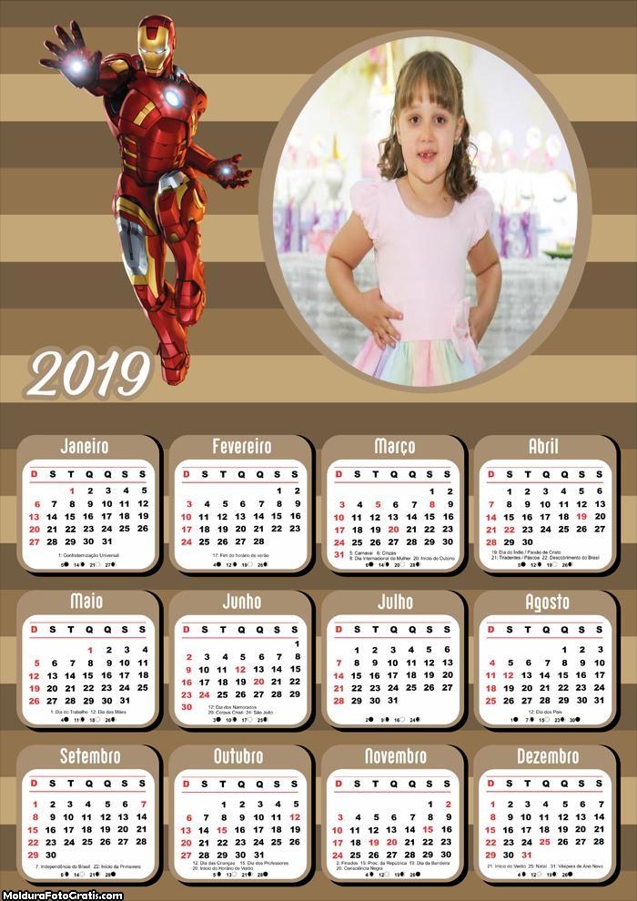 Calendário do Homem de Ferro 2019