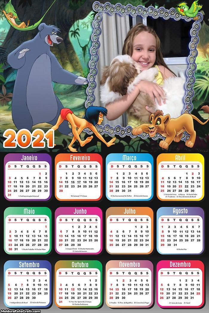 Calendário Tarzan 2021