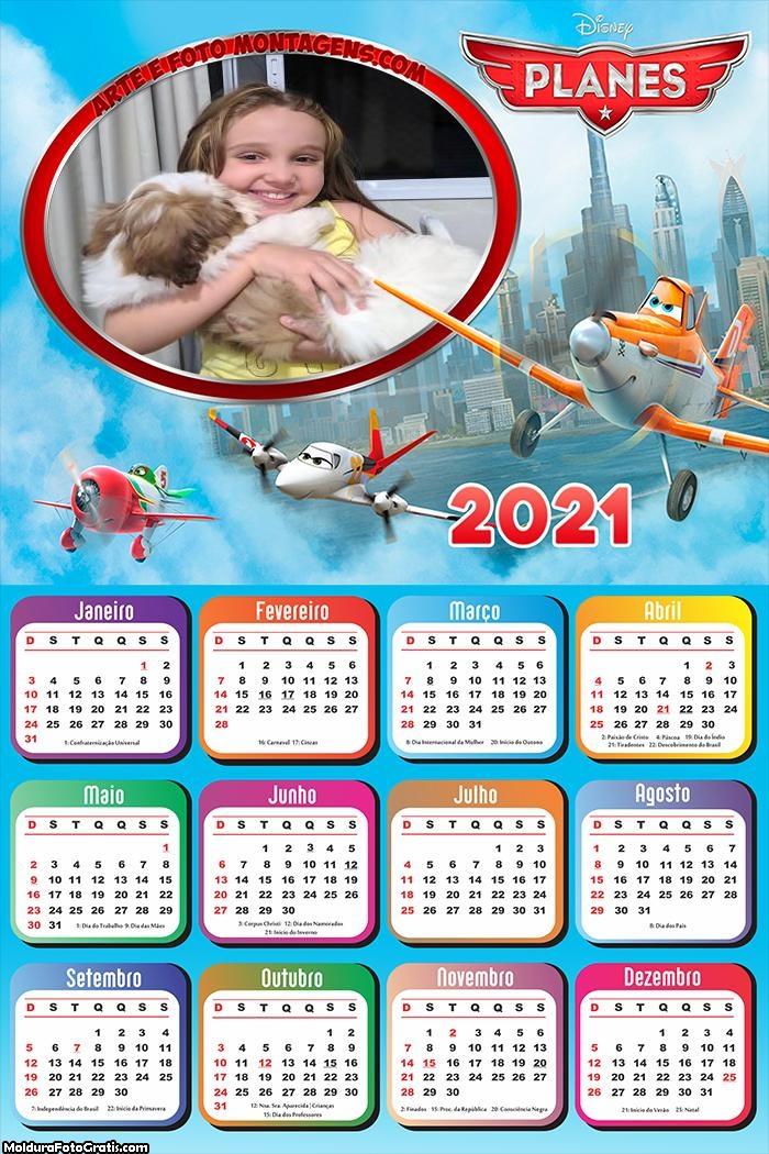 Calendário Aviões Disney 2021