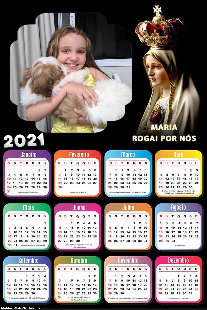 Calendário Maria Mãe de Jesus 2021