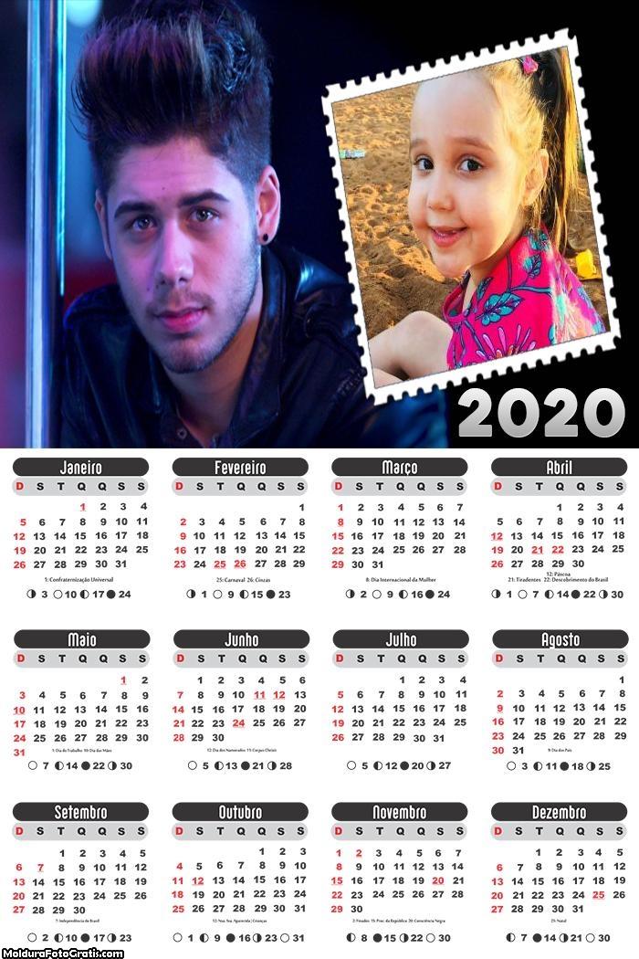 Calendário Zé Felipe Cantor 2020