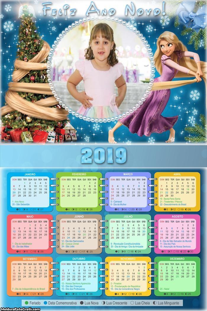 Calendário Rapunzel no Natal 2019
