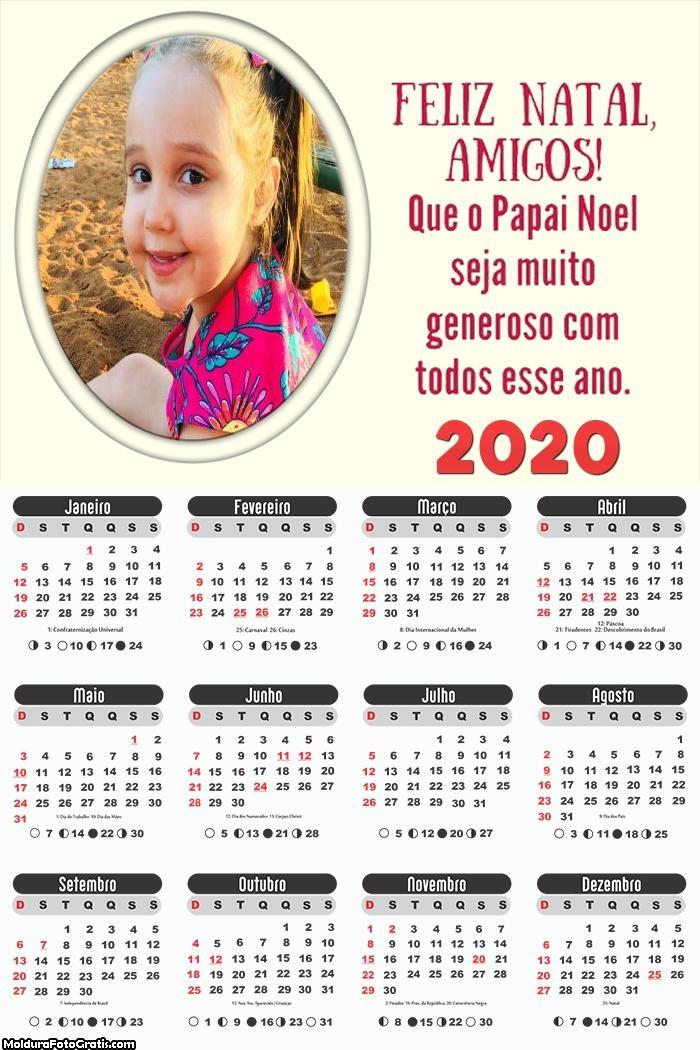 Calendário Feliz Natal Amigos 2020