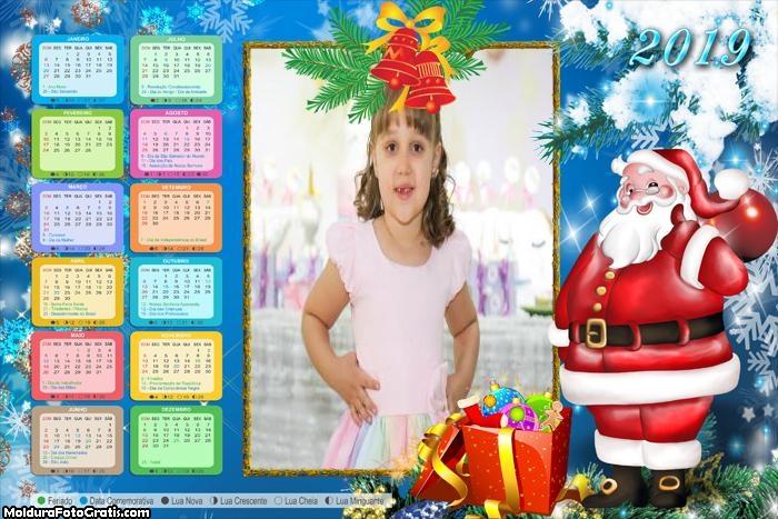 Calendário Papai Noel Desenho 2019