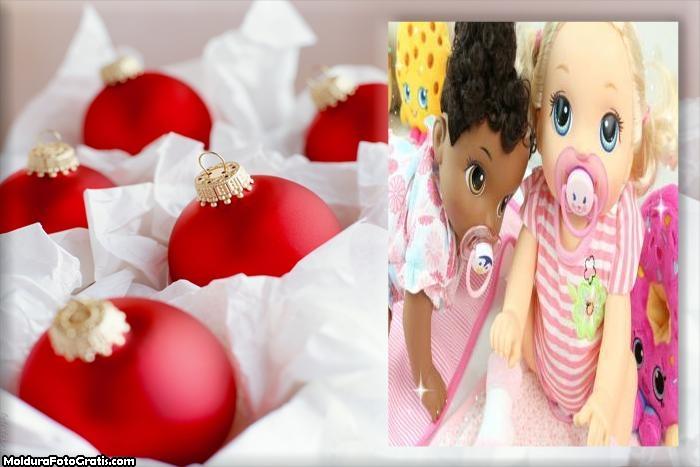 Lindas Bolas Vermelhas de Natal