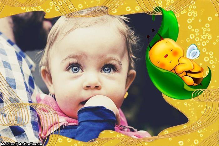 Moldura Abelhinha Bebê