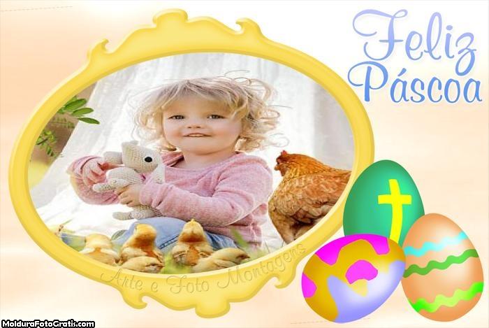 Moldura de Feliz Páscoa