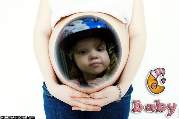 FotoMoldura na Barriga da Mamãe