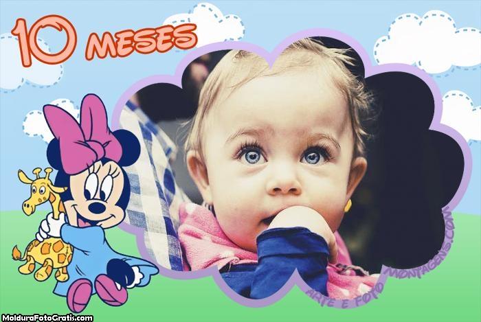Minnie Baby 10 Meses Moldura
