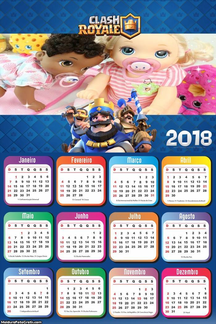 Calendário do Jogo Clash Royale 2018