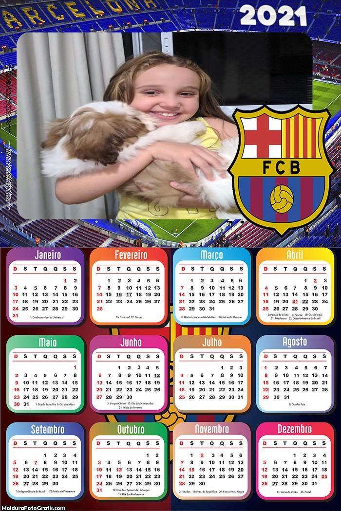 Calendário Barcelona 2021