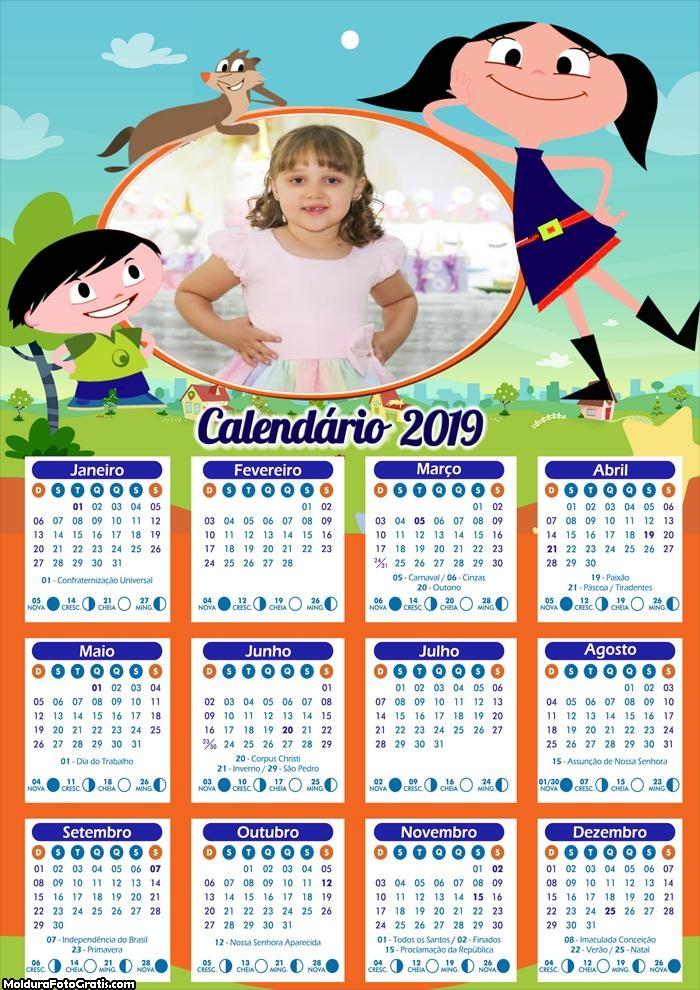 Calendário O Show da Luna 2019