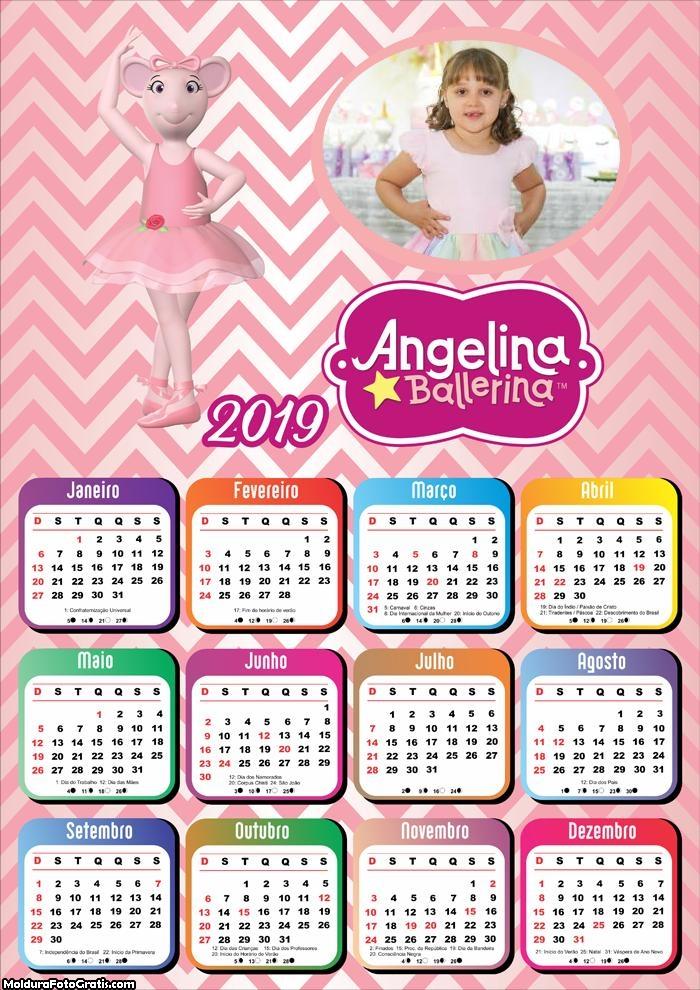 Calendário Angelina Bailarina 2019