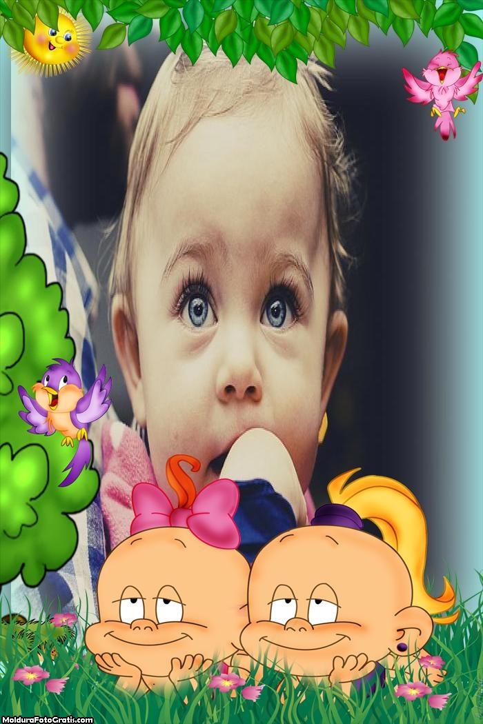 Duas Bebês Moldura