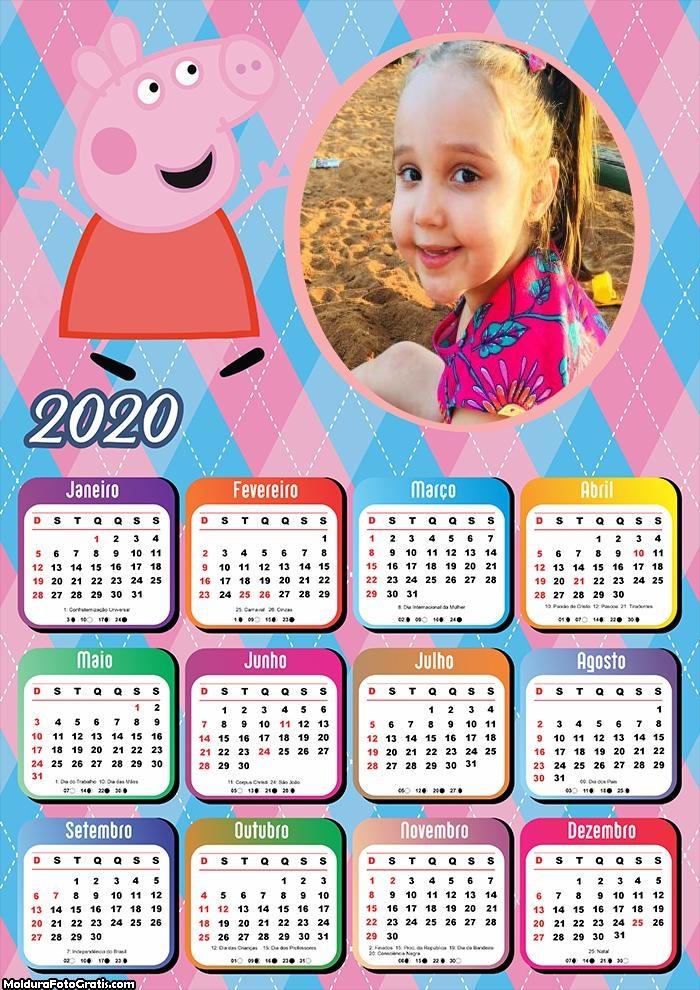 Calendário Peppa Pig 2020