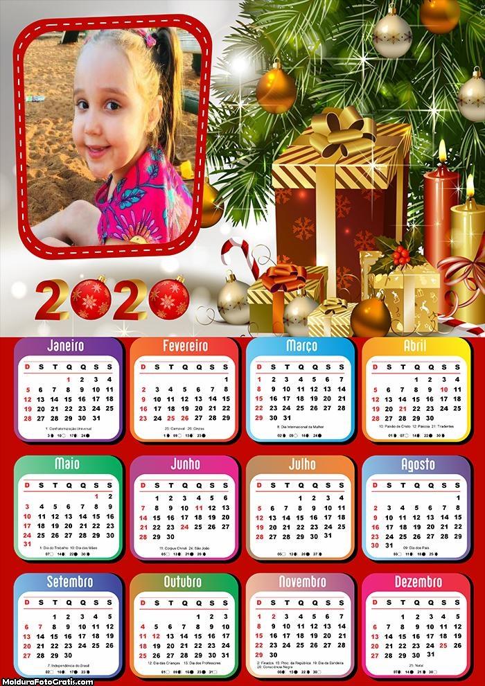 Calendário Colar Foto Natalina 2020